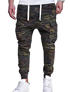 billige Herrebukser og -shorts-menns pluss størrelse bomull chinos / harem bukser - kamuflasje