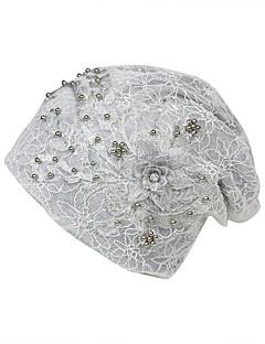 billige Trendy hatter-Dame Grunnleggende / Ferie Solhatt - Perler / Netting, Blomstret