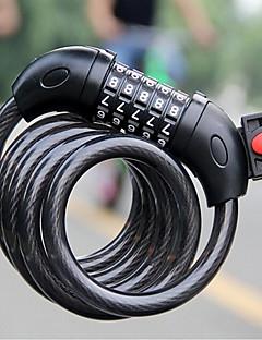 お買い得  サイクリング-自転車ロック / パスワードロック 超ロング丈, ロックセキュリティ サイクリング / バイク 銅 / スチール / ABS ブラック - 1 pcs