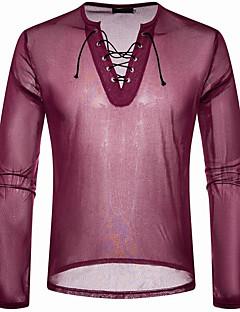 Χαμηλού Κόστους Ανδρική Μόδα & Ρούχα-Ανδρικά T-shirt Ενεργό Μονόχρωμο