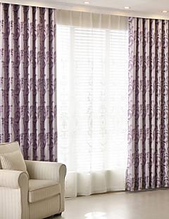 billige Mørkleggingsgardiner-Blackout Gardiner Soverom Blomstret 100% Polyester Mønstret Mønstret