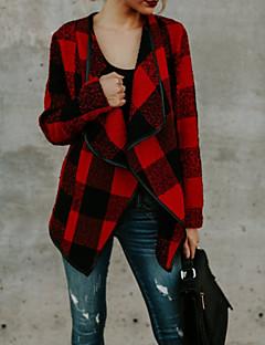 Χαμηλού Κόστους Γυναικεία σπορ σακάκια και μπουφάν-Γυναικεία Kimono Jacket Βασικό - Καρό