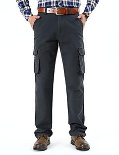 billige Herrebukser og -shorts-Herre Grunnleggende / Militær Chinos Bukser Ensfarget
