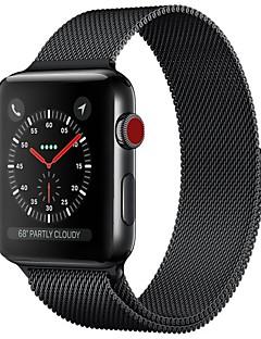 billige Ur Tilbehør-Rustfrit stål Urrem Strap for Apple Watch Series 3 / 2 / 1 Sort / Blåt / Sølv 23cm / 9 tommer 2.1cm / 0.83 Tommer