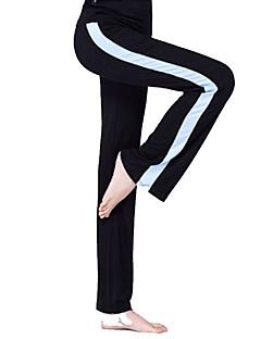 billiga Träning-, jogging- och yogakläder-Dam Brett skaft Yoga byxor - Röd, Grön, Rosa sporter Ensfärgat Modal Underdelar Fitness, Gym Sportkläder Fuktabsorberande, Snabb tork, Andningsfunktion Microelastisk Ledig