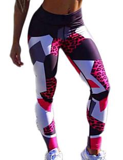 tanie Getry-Damskie Podstawowy Legging - Geometric Shape / Kolorowy blok Wysoka talia