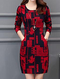 billige Minikjoler-Dame Basale Skede Kjole - Geometrisk Mini