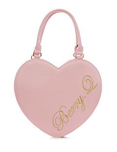 billiga Lolitamode-väska väska Justerbara band Söt Lolita Dam Rosa / Brun / Silver lolita tillbehör Hjärta Broderi Väska PU-läder / Polyuretan Läder Halloweenkostymer