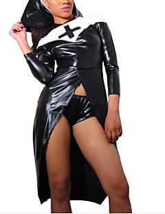 tanie Cosplay i kostiumy-Uniformy Sukienka Damskie Halloween / Karnawał / Bal maskowy Festiwal/Święto Kostiumy na Halloween Czarny Solidne kolory / Równina Cosplay / Halloween