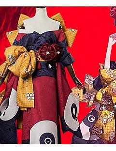 """billige Anime cosplay-Inspirert av Skjebne / Grand Order Katsushika Hokusai Anime  """"Cosplay-kostymer"""" Cosplay Klær Blomsternål i krystall Sløyfe / Kimono Frakke / Hodeplagg Til Dame Halloween-kostymer"""