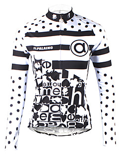 ILPALADINO Women s Long Sleeve Cycling Jersey - Black   White Polka Dot Plus  Size Bike Jersey Top Breathable Quick Dry Ultraviolet Resistant Sports 100%  ... c793e3793