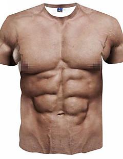 billiga Träning-, jogging- och yogakläder-Herr Sexig T-shirt för jogging - Grov Svart, Ljusbrunt, Kristall sporter 3D Print T-shirt Löpning, Fitness, Gym Kortärmad Sportkläder Andningsfunktion, Mjuk, Svettavvisande Microelastisk