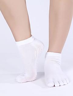 billiga Träning-, jogging- och yogakläder-Dam Yogastrumpor för extra golvgrepp / Fem Toe Socks Anti-Halk, Svettavvisande, Non Slip Till Pilates / Bikram / Barre Vår / Höst / Vinter