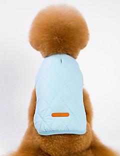 billiga Hundkläder-Hund / Katt Kappor / Jakke Hundkläder Enfärgad Grå / Brun / Blå Polär Ull Kostym För husdjur Unisex Uppvärmning / Brittisk
