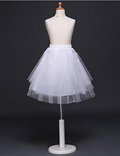 billiga Lolitamode-Klassisk / Traditionell Lolita Lolita Ruffle Dress Dam Underkjol Cosplay Vit / Svart Mini Över Knät Halloweenkostymer