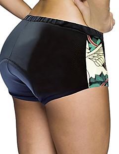 billige Sykkelklær-ILPALADINO Dame Undershorts til sykling / Sykkelshorts Sykkel Shorts / Fôrede shorts / Bunner 3D Pute, Fort Tørring, Anatomisk design Ensfarget, Dyr Spandex, Elastan, Lycra Svart Veisykling