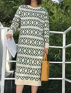 tanie Sweater Dresses-Damskie Wyjściowe Szczupła Sweter Sukienka Nad kolano
