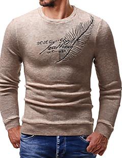 baratos Suéteres & Cardigans Masculinos-Homens Moda de Rua Pulôver - Letra