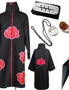 """billige Anime Kostymer-Inspirert av Naruto Akatsuki / Hidan Anime  """"Cosplay-kostymer"""" Cosplay Klær / Mer Tilbehør Trykt mønster Kappe / Mer Tilbehør Til Herre Halloween-kostymer"""