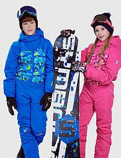 billiga Skid- och snowboardkläder-Phibee Pojkar / Flickor Skiddräkt Vindtät, Vattentät, Håller värmen Skidåkning / Utomhusträning / Freestyle-snowboard Polyester, Bomull Vinterjacka / Varma byxor Skidkläder