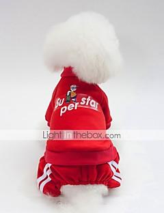 billiga Hundkläder-Hund Tröja Hundkläder Brittisk / Slogan Mörkblå / Röd / Rosa Cotton Kostym För husdjur Unisex Ledigt / vardag / Uppvärmning