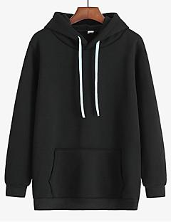 Χαμηλού Κόστους Μακριά φούτερ με κουκούλα-γυναικείο μακρύ μανίκι χαλαρή hoodie - συμπαγή με κουκούλα
