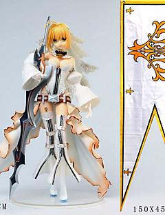 billige Anime cosplay-Anime Action Figurer Inspirert av Fate / zero Saber PVC 24 cm CM Modell Leker Dukke