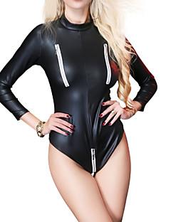 billige Sexy Kropper-Dame Super Sexy Teddy Nattøy - Ensfarget, Utskjæring