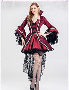 billige Halloweenkostymer-Vampyrer Kjoler Cosplay Kostumer Party-kostyme Dame Voksne Kjoler Halloween Halloween Maskerade Festival / høytid Halloween-kostymer Drakter Rød Printer Halloween