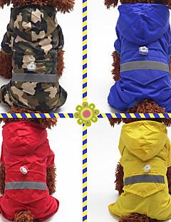billiga Hundkläder-Hund / Katt / Husdjur Regnjacka / Prydnader Hundkläder Enfärgad / Kamuflasje Röd / Blå / Kamoflagefärg Akrylik Fiber Kostym För husdjur