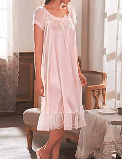 tanie Szlafroki i bielizna nocna-Damskie Okrągły dekolt Bielizna koronkowa / Koszulka na ramiączkach Piżama Solidne kolory