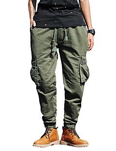 billige Herrebukser og -shorts-Herre Gatemote Chinos Bukser Ensfarget