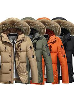 cheap Outdoor Clothing-AFSJeep Men's Hiking Down Jacket Outdoor Fall / Winter Windproof, Waterproof, Thermal / Warm Down Jacket / Winter Jacket / Top Waterproof Camping / Hiking, Hunting, Climbing Orange Army Green Khaki