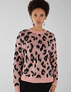 tanie AW 18 Trends-damski sweter z długimi rękawami - leopard