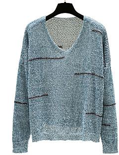 tanie Swetry damskie-Damskie Podstawowy Sweter rozpinany Solidne kolory