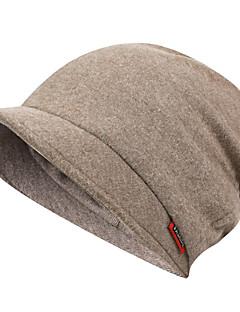 tanie Odzież turystyczna-Czapka turystyczna Czapka Skull Caps Zatrzymujący ciepło Jesień Zima Czarny Unisex Ćwiczenia na zewnątrz Podróżowanie Sporty zimowe Solidne kolory Doroślu / Średnio elastyczny