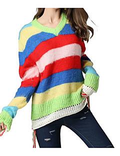 baratos Suéteres de Mulher-Mulheres Activo Pulôver - Estampa Colorida