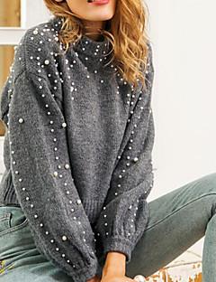tanie AW 18 Trends-Damskie Moda miejska Pulower - Koraliki, Solidne kolory