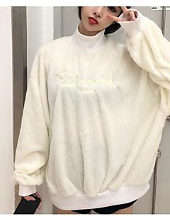 baratos Moletons com Capuz e Sem Capuz Femininos-Mulheres Calças - Letra Branco M