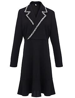 baratos Vestidos de Festa-Mulheres Básico Sereia Vestido Sólido Acima do Joelho