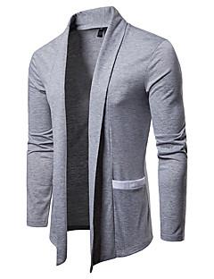 baratos Suéteres & Cardigans Masculinos-Homens Capa / Capes Básico / Moda de Rua - Sólido