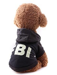 billiga Hundkläder-Hund / Katt Kappor / Tröja Hundkläder Enfärgad Svart / Röd Tyg Kostym För husdjur Unisex Minimalistisk Stil / Ledig / Sportig