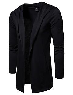 baratos Suéteres & Cardigans Masculinos-Homens Casaco Longo Básico / Moda de Rua - Sólido