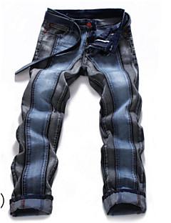 billige Herrebukser og -shorts-menns bomulls slanke jeansbukser - fargeblokk