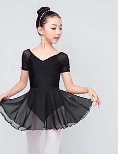 billige Nyheter-Ballet Drakter Jente Trening / Ytelse Elastan / Lycra Ruchiing Kortermet Skjørt / Topp