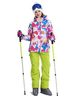 billiga Skid- och snowboardkläder-Dam Skidjacka och -byxor Vindtät, Varm, Ventilerande Skidåkning / Multisport / Vintersport Polyester Klädesset Skidkläder
