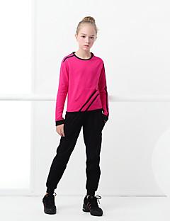 billige Danseklær til barn-Ballet Drakter Jente Trening / Ytelse Elastan / Lycra Strikk Langermet Topp / Bukser