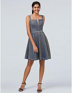 billiga Cocktailklänningar-A-linje Smala axelband Kort / mini POLY Vacker rygg Cocktailfest Klänning med Bård av TS Couture®