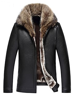 Χαμηλού Κόστους Γυναικείες Γούνες & Δέρμα-Γυναικεία Γούνινο παλτό Βίντατζ - Μονόχρωμο