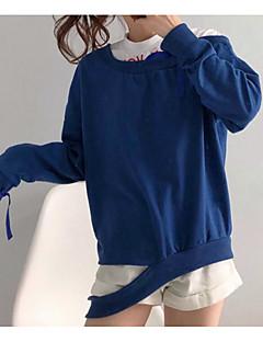 baratos Moletons com Capuz e Sem Capuz Femininos-camisola de mangas compridas para mulheres - carta / bloco de cor